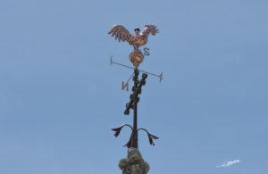 Photo du coq en haut de notre église de TRUYES